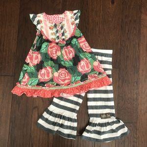 Matilda Jane dress & ruffle pants